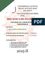 informe 2 de mecánica de fluidos 2
