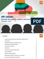 GfK OP Diciembre 2015 - Gobierno y Lima