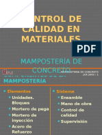 Propiedades de Los Materiales Control de calidad de los materiales en la mamposteria estructural