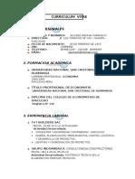 Curriculum Vitae Econ. Alcides Medina