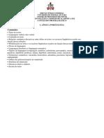 Vestibulinho 2012 - Conteudo Programatico