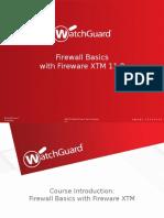 XTM Firewall Basics v11.8