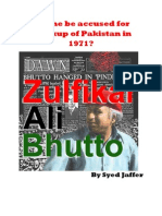 Can he be accused for breakup of Pakistan in 1971? -- Zulfikar Ali Bhutto -- By Syed Jaffer
