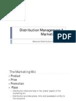Distribution Management and Marketing Mix
