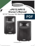 Harbinger APS12 APS15 Manual