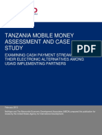USAID - Tanzania Mobile Money Market Assessment and Case Study - Final