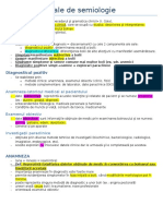 1. Noţiuni generale de semiologie