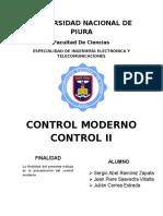 Teoría de Control Moderna (1)
