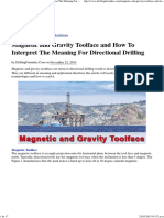 Magnetic and Gravity Toolface and How to Interpret the Meaning for Directional Drilling