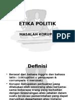 ETIKA POLITIK