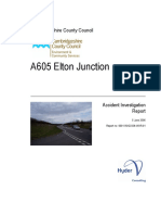 A605 Elton Junction Accident Report