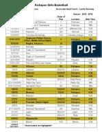 Lady Chiefs Season Calendar 2015-2016