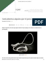 Carta Abierta a Alguien Que Ve Porno _ Josué Barrios