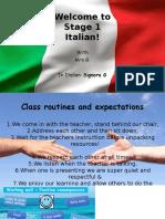 1  intro to italian class