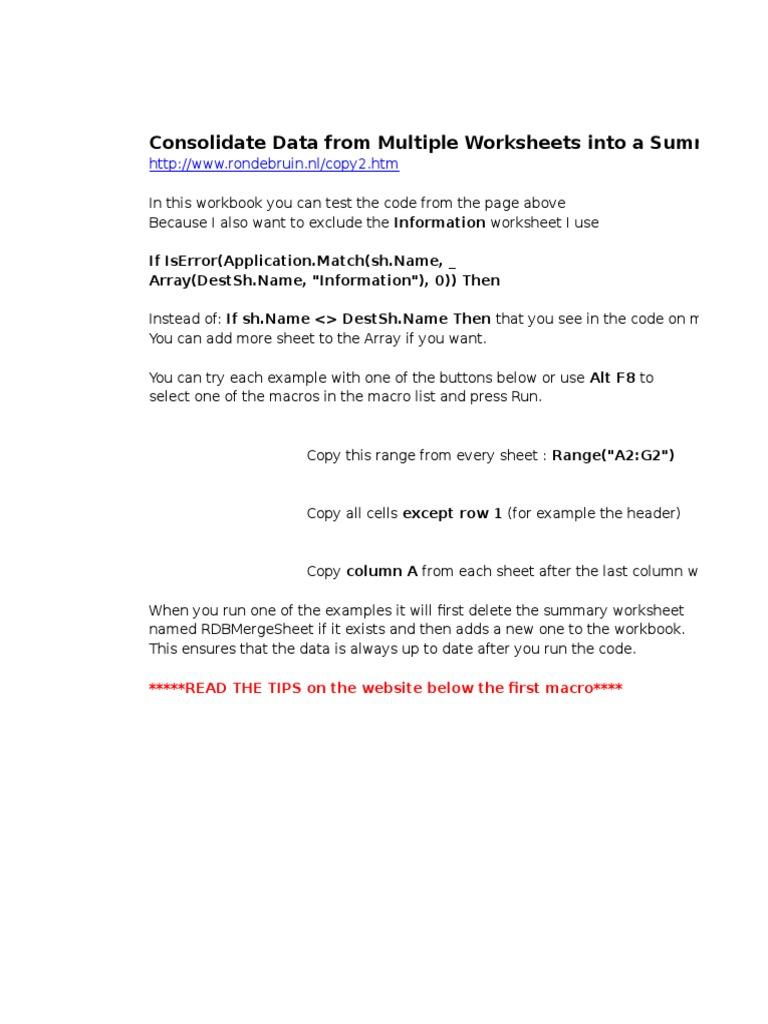 Merge Worksheets Code   Microsoft Excel   Chess