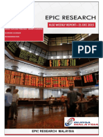 Epic Research Malaysia - Weekly KLSE Report From 21st December 2015 to 25th December 2015