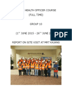 Safety Health Officer Course Report 3