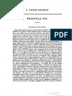 Lucius Annaei Senecae Epistola VII (Bouillet)