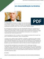 EUA promovem desestabilização na América Latina