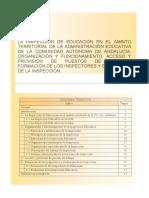 LA INSPECCIÓN DE EDUCACIÓN EN EL ÁMBITO TERRITORIAL DE LA ADMINISTRACIÓN EDUCATIVA DE LA COMUNIDAD AUTÓNOMA DE ANDALUCÍA