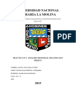 Practica 1 Pesquera Analisis organoleptico