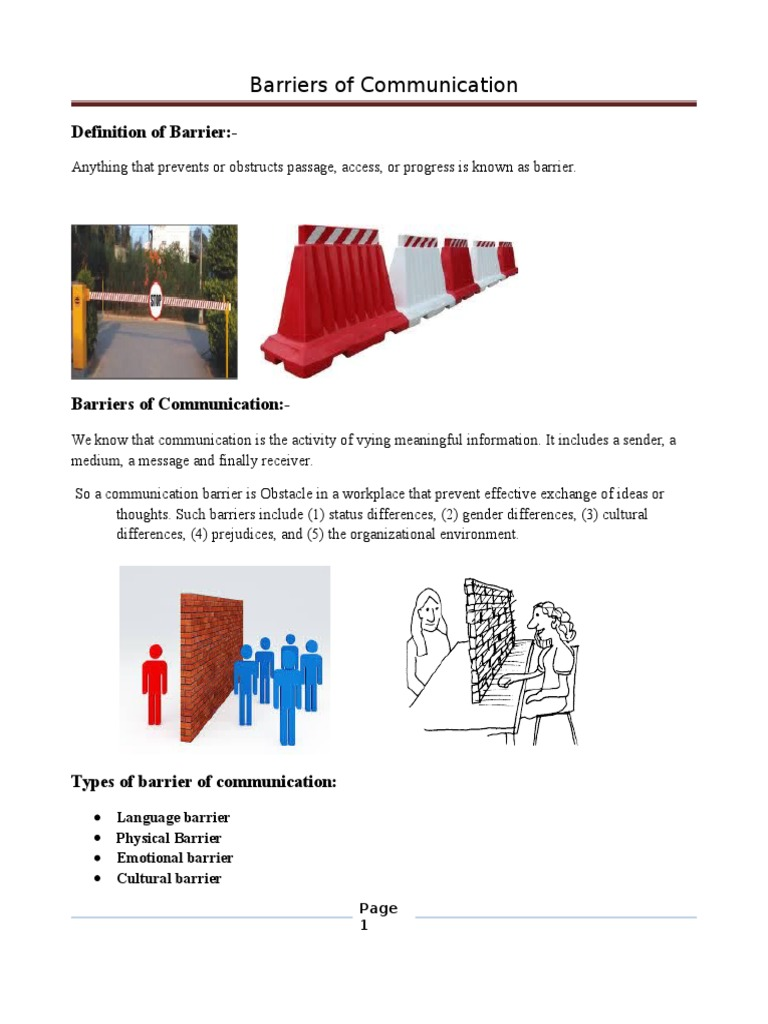 cultural barriers definition