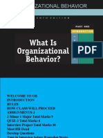 ORGANIZATIONAL BEHAVIOR CH-1