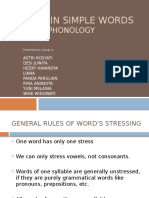PHONOLOGY - Stress in Simple Words