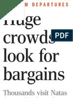 Huge crowds look for bargains