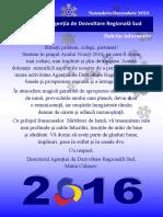 Buletin Informativ Noiembrie-Decembrie 2015