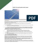 Green Tips Solar Cell