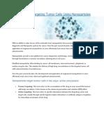 Aranca | Mechanism of Targeting Tumor Cells Using Nanoparticles