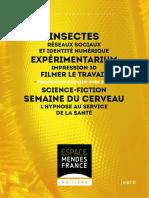 Programme de L'Espace Mendès France, janvier 2016