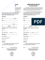 2016 Club Membership Form
