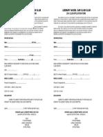 2016 Club Membership Form