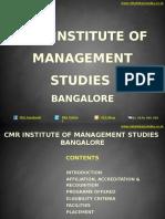 CMR Institute of Management Studies Bangalore