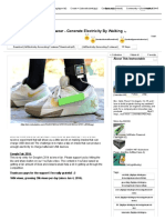 Electricity Generating Footwear - Generate Electricity by Walking