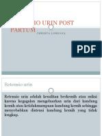 Retensio Urin Post Partum
