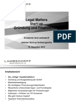 Legal Matter - Entrepreneurship Goethe
