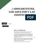 Los Adolescentes Los Adultos y Las Instituciones