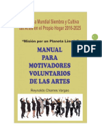 MANUAL PARA MOTIVADORES VOLUNTARIOS EN ARTES