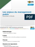 Les Enjeux Du Management Public