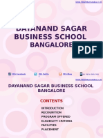 Dayanand Sagar Business School Bangalore