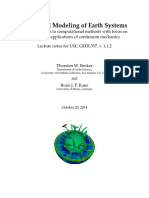 Numerical Modeling of Earth Systems