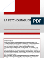 La Psycholinguistique