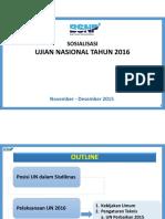 Bahan Sosialisasi UN 2015-2016