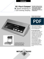 ID1Plus and ID1 Plus-A Compact Terminals. Rapid weighing-in with LED analog display
