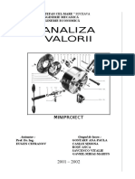 Analiza Valorii proiect TCM an 4
