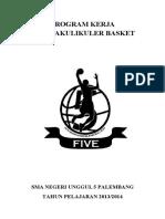 Program Kerja Ekstrakulikuler Basket 2014