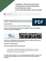 Deutschelobby.com-Aufruf an Unsere Soldaten Sichert Die Deutschen GrenzenDie Entscheidung Der Bundeskanzlerin Zur Grenz